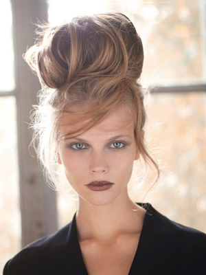 Tucked In Hairstyle For Growing Out Bangs By Jean Claude Aubry