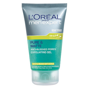 L'oreal Paris Men Expert Pure   Matte Anti Blocked Pores Exfoliating Gel