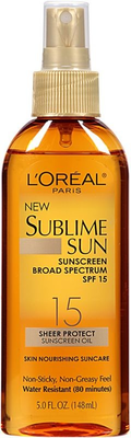 L'oreal Sublime Sun Sheer Protect Sunscreen Oil Spf 15