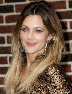 Drew Barrymore Ombre Hair Color