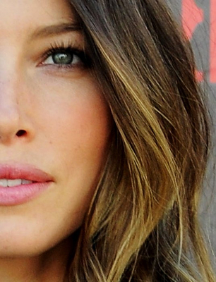 Jessica Biel Ombre Hair Highlights