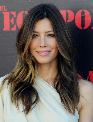 Jessica Biel Ombre Hair Highlights Hair Color