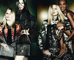 The newest autumn/winter 2013 campaign from Roberto Cavalli is filled with ultra glamorous edgy ensembles. Take a peek!