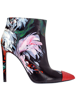 Roberto Cavalli Snake Red Cap Toe Booties