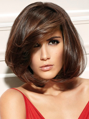 Bob Haircut With Layered Bangs