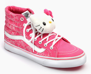 The beloved collaboration between Sanrio and Vans is back with fresh styles. Check out the Vans x Hello Kitty collection for summer 2013!