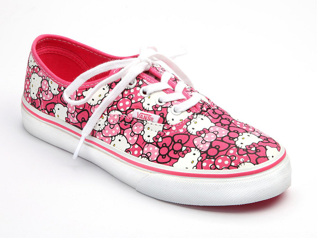Hello Kitty Vans Hot Pink Print Sneaker