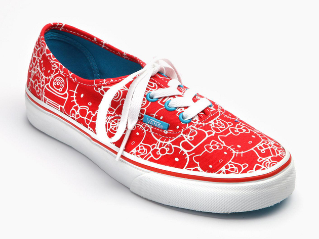 Hello Kitty Vans Red Print Sneaker