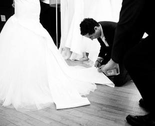 Affordable wedding gowns signed by Zac Posen are on their way. The designer has teamed up with David's Bridal for a fab bridal line set to be launched next year. Get all the details!