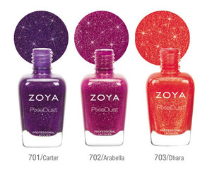 The upcoming season will be bringing six more covetable Zoya PixieDust nail polish hues. Check them out and pick your favorite!