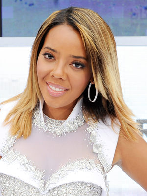 Angela Simmons Medium Straight Hairstyle