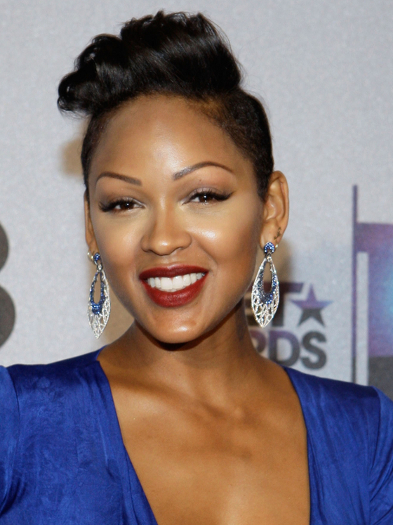 Phenomenal Pictures 2013 Bet Awards Hairstyles Meagan Good Glam Punk Short Hairstyles For Black Women Fulllsitofus