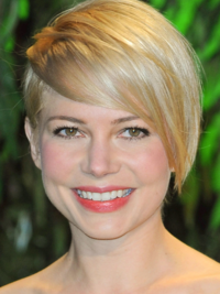Michelle Williams Asymmetric Short Hairstyle
