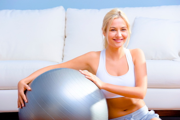 Fitness Ball For A Lazy People Workout