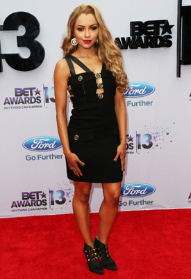 Kat Graham Versace Black Dress