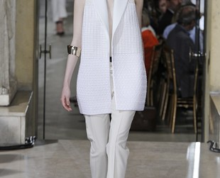 A delightful array of elegant yet edgy looks defined the Bouchra Jarrar couture line for fall 2013. See the line's best highlights!