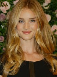 Rosie Huntington Whiteley Caramel Blonde Hair Color