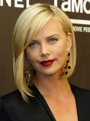 Charlize Theron Asymmetric Bob Haircut