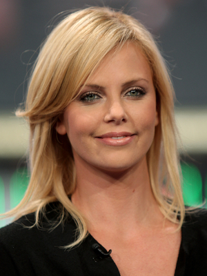 Charlize Theron Long Layered Hairstyle