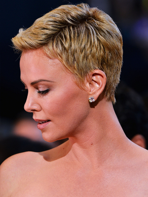 Charlize Theron Short Hair Side View