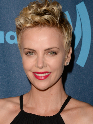 Charlize Theron Textured Pixie Hairstyle