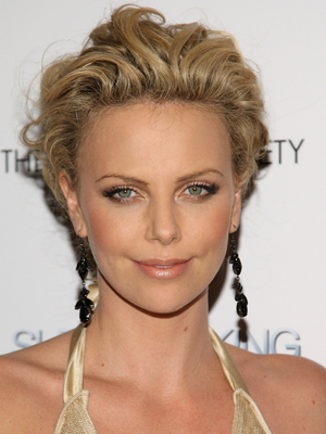 Charlize Theron Textured Updo