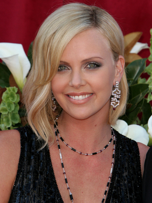 Charlize Theron Wavy Long Bob Hairstyle