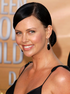 Charlize Theron With Black Hair Color
