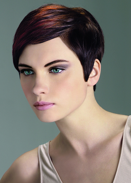 Side Part Medium Pixie Haircut