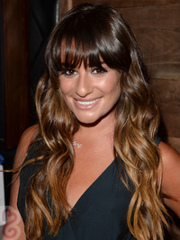 Lea Michele Caramel Blonde Ombre Hair Color