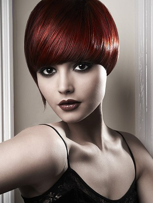 Dark Wine Red Hair Color