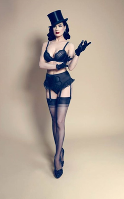 Dita Von Teese Von Follies 2013 Lingerie Collection Look 1