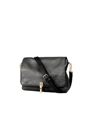 Elizabeth And James Black Leather Cross Body