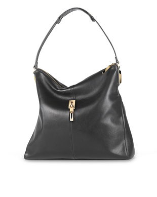 Elizabeth And James Black Leather Hobo Bag