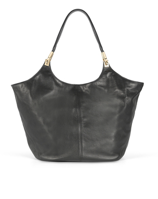 Elizabeth And James Black Leather Shopper