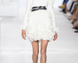 Ultra romantic gowns inspired by fine porcelains inspired Giambattista Valli's haute couture collection for fall 2013. See the show's best looks!