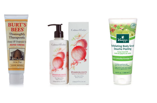 Different Grapeseed Oil Skin Care Products