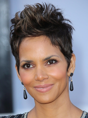 Halle Berry Grown Pixie Look