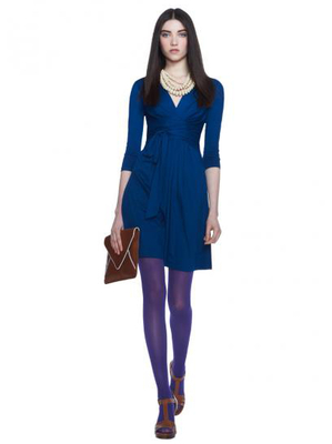 Banana Republic Issa Blue Gathered Waist Dress