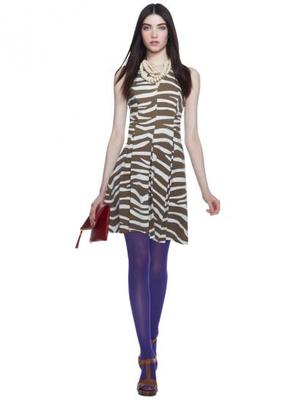 Banana Republic Issa Zebra Print Pleated Dress