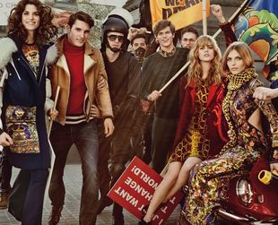 A glamorous protest is the theme of the new Just Cavalli campaign for fall/winter 2013-2014. Have a look!