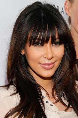 Kim Kardashian Bangs Hair 2013