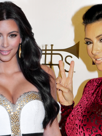 Kim Kardashian Hairstyles Over the Years