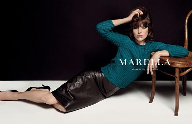 Milla Jovovich for Marella Fall 2013 Campaign