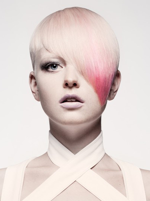 Short Asymetrical Punk Haircut For Women