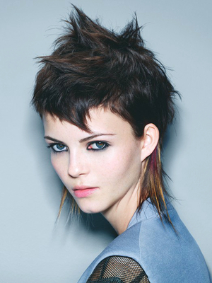 Short Choppy Punk Mullet Haircut For Girls