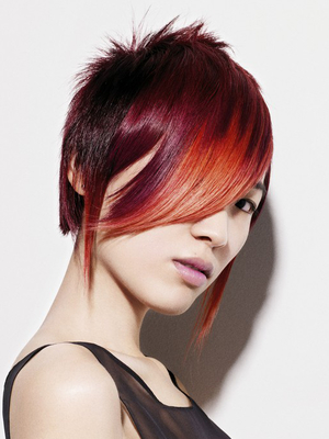 Short Punk Haircut With Long Front Layers