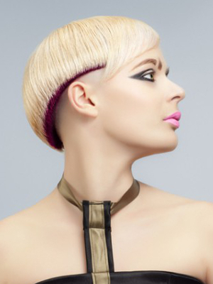 Short Rounded Punk Hair With Undershave