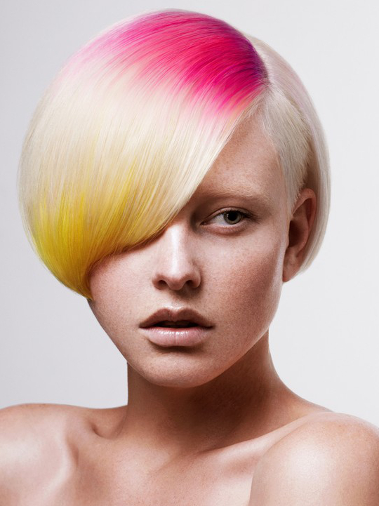 Pictures : New Short Punk Hairstyles for Women - Colored Short Punk Bob With Undercut