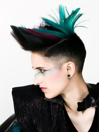 Faded Punk Mohawk Hairstyle For Women